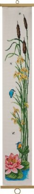 click here to view larger image of Kingfisher & Iris (counted cross stitch kit)