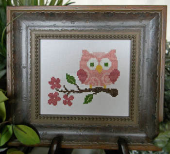 click here to view larger image of Pink Owl On Branch (chart)