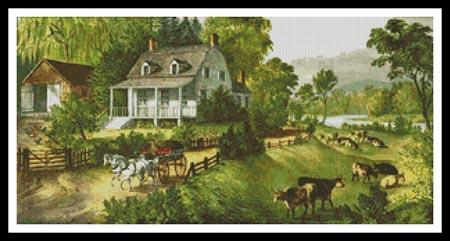 click here to view larger image of American Homestead in Summer (chart)