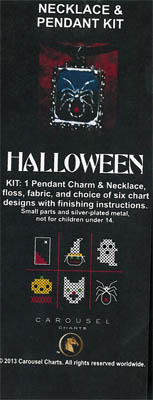 click here to view larger image of Halloween Necklace Pendant Kit (counted cross stitch kit)