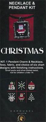 click here to view larger image of Christmas Necklace Kit (counted cross stitch kit)