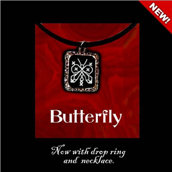 click here to view larger image of Butterfly Necklace Kit (counted cross stitch kit)