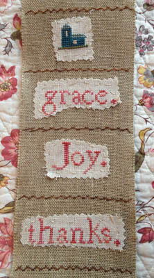 click here to view larger image of Grace Joy Thanks Eucharisteo (chart)