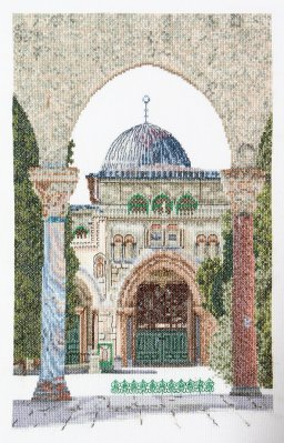 click here to view larger image of Al-Aqsa Mosque (Linen) (counted cross stitch kit)