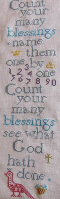 click here to view larger image of Hymn Sampler - Count Your Blessings (chart)
