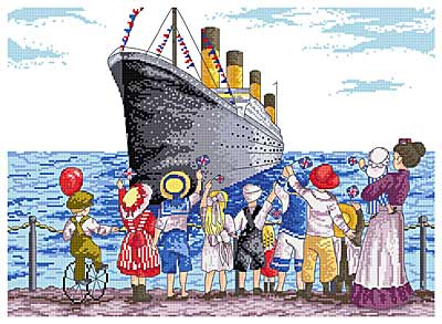 click here to view larger image of Titanic (All Our Yesterdays) (counted cross stitch kit)