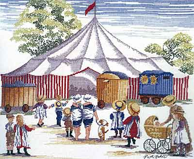 click here to view larger image of Circus Comes To Town (All Our Yesterdays) (counted cross stitch kit)