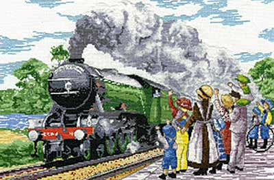click here to view larger image of Flying Scotsman (All Our Yesterdays) (counted cross stitch kit)