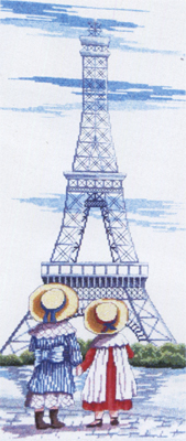 click here to view larger image of Eiffel Tower (All Our Yesterdays) (counted cross stitch kit)