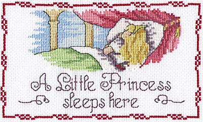 click here to view larger image of Little Princess Sleeps Here (All Our Yesterdays) (counted cross stitch kit)