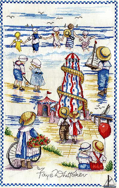 click here to view larger image of Seaside Montage (All Our Yesterdays) (counted cross stitch kit)