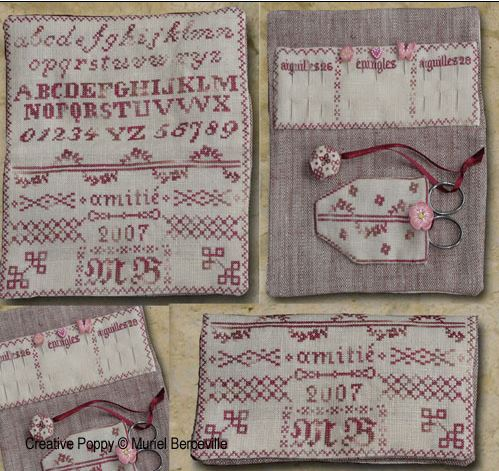 click here to view larger image of Pins and Needles Needlework Wallet (chart)