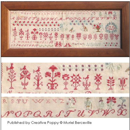 click here to view larger image of Reproduction Sampler MB1841 (chart)