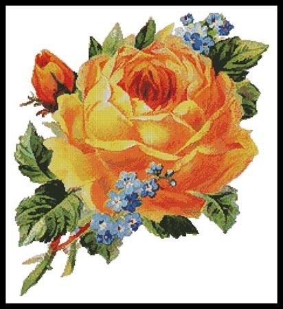 click here to view larger image of Antique Yellow Rose 2 (chart)