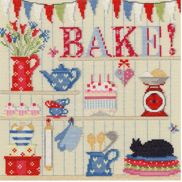click here to view larger image of Bake! (counted cross stitch kit)