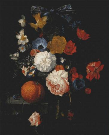 click here to view larger image of A Still Life With Roses, Daffodils, Bluebells, and Other Flowers (chart)