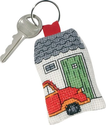 click here to view larger image of Red Citroen Keyring (counted cross stitch kit)