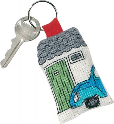 click here to view larger image of Blue VW Keyring (counted cross stitch kit)
