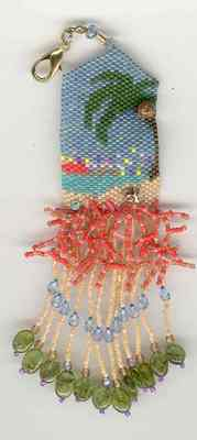 click here to view larger image of Balmy Beach Fob (bead kit)