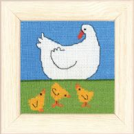 click here to view larger image of Duck and Ducklings (counted cross stitch kit)