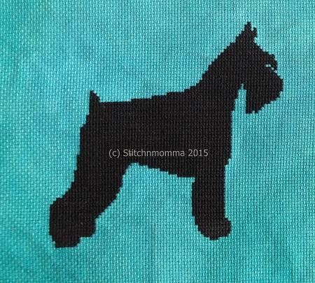 click here to view larger image of Dog Silhouette - Schnauzer (chart)