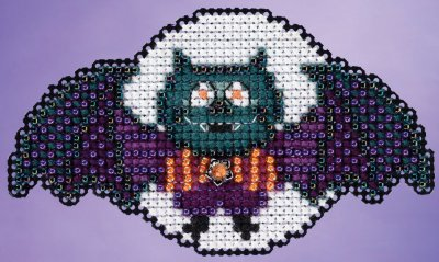 click here to view larger image of Boris the Bat (counted cross stitch kit)