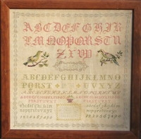 click here to view larger image of C Mathy 1878 Antique Sampler (chart)