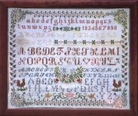 click here to view larger image of Antique Sampler of Swiss Origin - MD (chart)