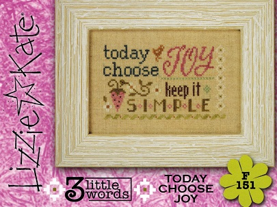 click here to view larger image of 3 Little Words - Today Choose Joy (chart with charms/buttons)
