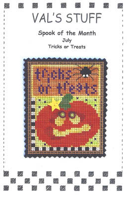 click here to view larger image of July Ornament - Tricks or Treats (chart)