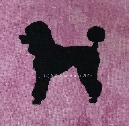 click here to view larger image of Dog Silhouette - Poodle (chart)