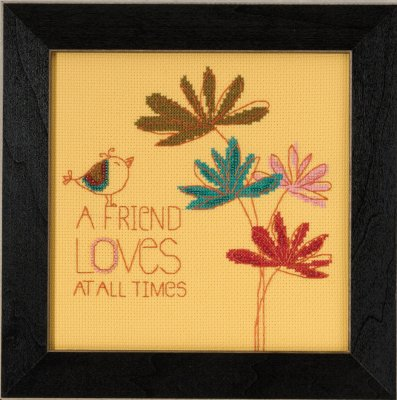 click here to view larger image of A Friend Loves - Amylee Weeks (counted cross stitch kit)