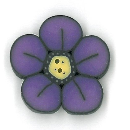 click here to view larger image of Small Violet Wildflower - Crayon Box Collection (buttons)
