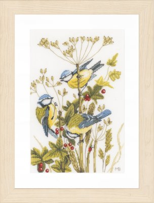 click here to view larger image of Blue Tits (counted cross stitch kit)