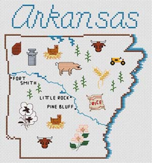 click here to view larger image of Arkansas Map (chart)