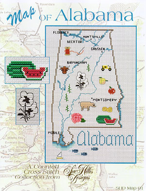 click here to view larger image of Alabama Map (chart)