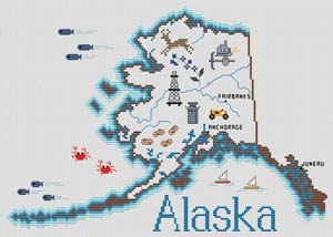 click here to view larger image of Alaska Map (chart)