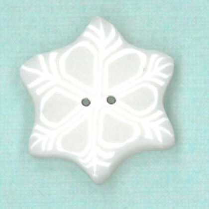 click here to view larger image of Small Snowflake Button (buttons)