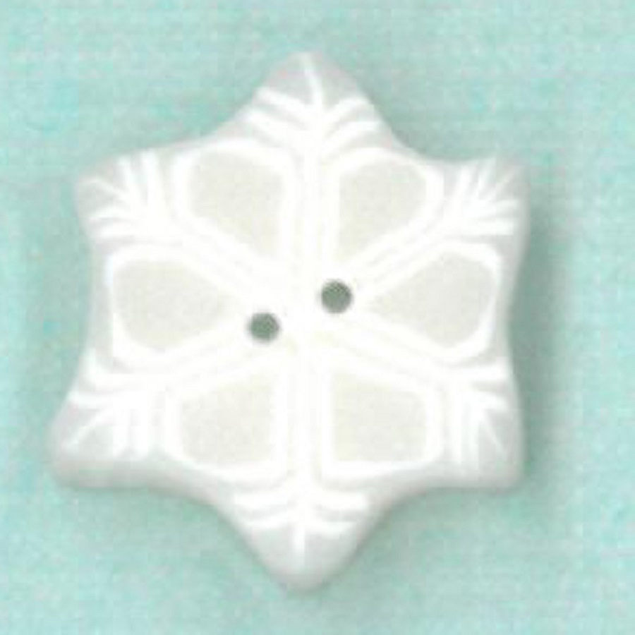 click here to view larger image of Tiny Snowflake Button (buttons)