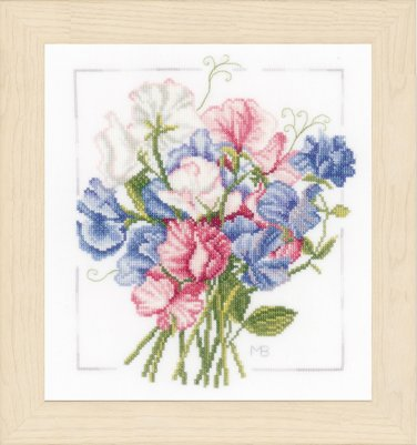 click here to view larger image of Colorful Bouquet (counted cross stitch kit)
