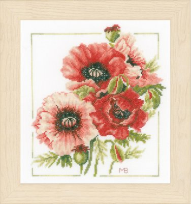 click here to view larger image of Anemone Bouquet (counted cross stitch kit)