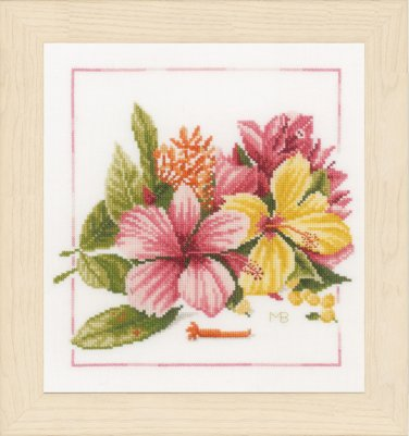 click here to view larger image of Amaryllis Bouquet (counted cross stitch kit)