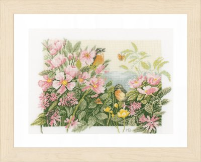 click here to view larger image of Birds and Roses (counted cross stitch kit)