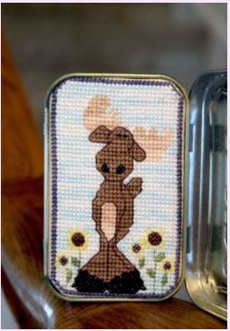 click here to view larger image of Mavis the Merry Moose (cross stitch) (chart)