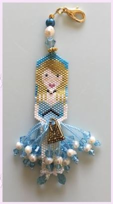 click here to view larger image of Alices Purse Fob (bead kit)