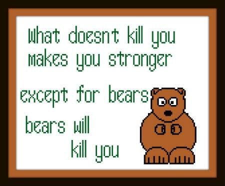 click here to view larger image of Bears Will Kill You (chart)
