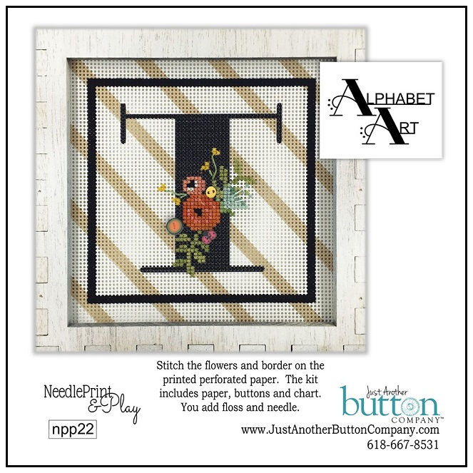 click here to view larger image of Alphabet T (counted cross stitch kit)
