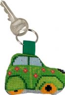 click here to view larger image of Green Citroen Keyring (counted cross stitch kit)