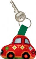 click here to view larger image of Red Fiat Keyring (counted cross stitch kit)