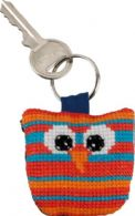 click here to view larger image of Owl Keyring - Vertical Stripes (counted cross stitch kit)